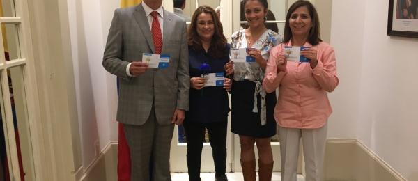 El Consulado de Colombia en Montevideo conmemoró el Día Nacional de la Memoria y la Solidaridad con las Víctimas del Conflicto
